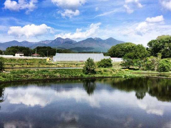 富士見町から見る八ヶ岳