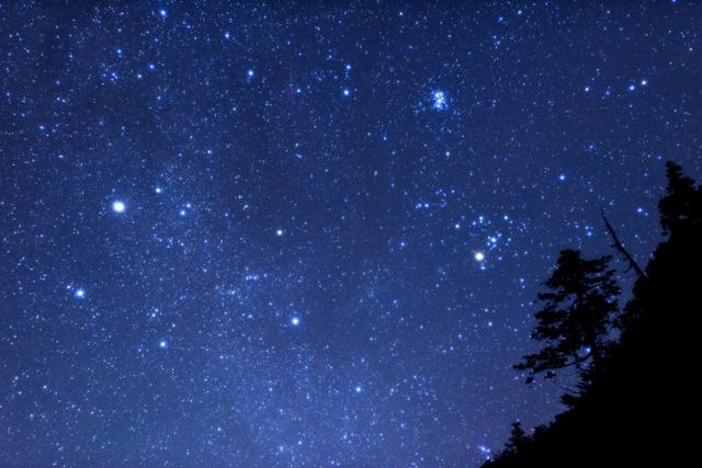 南アルプスの夜空